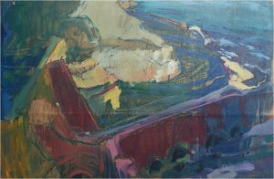 Agua Amarga II (oil on wood, 57cm x 27cm, unframed) price to be confirmed