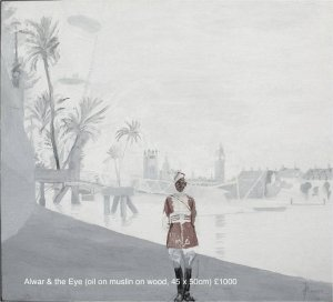b  w  river  rowing museum - alwar  the eye oil on muslin 45xm x 50cm unsold