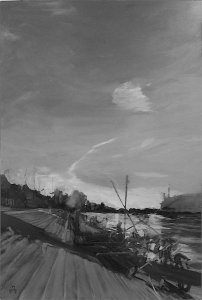 b  w river  rowing museum henley - sold