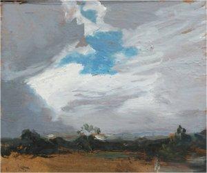 Caesar's camp II (oil on  board, 12cm x 9cm, unframed)