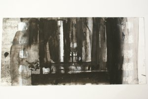 Dibujo III (ink and acrylic on paper, 42cm x 24cm 1991) price to be confirmed