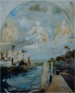Eel Pie II (oil on muslin on wood, 50cm x 60cm, unframed) sold