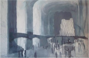 Grand hall (oil on canvas, 110cm x 160cm, unframed) price to be confirmed