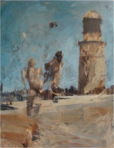 Lighthouse (oil on muslin on wood, 82 x 108cm) 3900