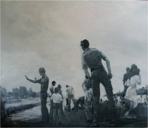 Malecon (oil on muslin on wood, 150cm x 130cm, unframed) price to be confirmed