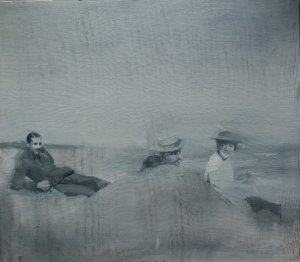 Old Tales I (Oil on muslin on wood, 45cm x 50cm, unframed) sold