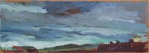 Sky study (oil on board, 30cm x 12cm, unframed)