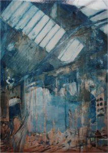 skylights oil on muslin on wood unframed sold