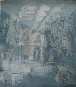 Study for Time and Tide (Central Hall) Wallington (mixed media on paper, 150cm x 130cm, unframed) £3000