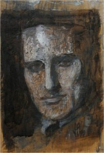 The artist's great grandfather, Sir Charles Trevelyan (oil on wood, 15cm x 23cm, unframed)