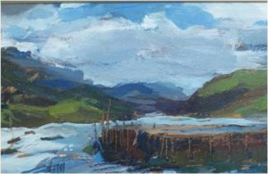 Ullapool (oil on board, 52cm x 36cm, framed)