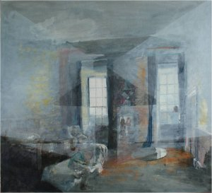 Untitled - 'Shafto' room, Wallinton  (Oil on muslin on wood, 119cm x 130cm, unframed) price to be confirmed
