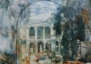 Wallington atrium (oil on paper) Sold