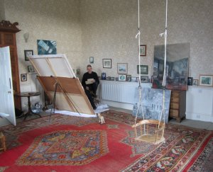 Old nursery swing in the south-west corner studio, Wallington, Northumberland early 201wallington northumberland