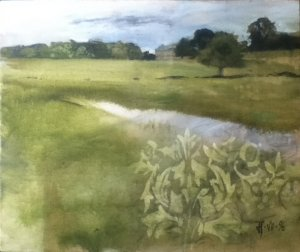 wansbeck to wallington 43 x 37cm 17 x 14.5in vii 1996